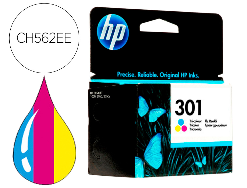 INK-JET HP N.301 TRICOLOR DESKJET 1050 /2540 /3050 / ENVY 4500/ 5530 OFFICEJET 26204630