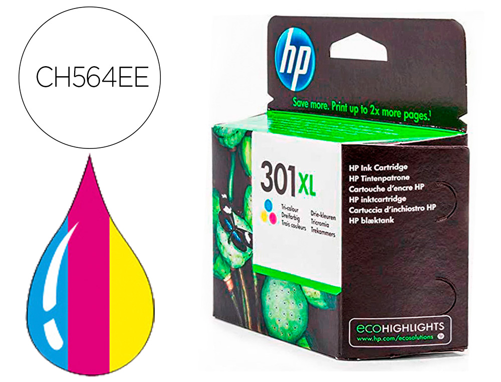 INK-JET HP 301XL TRICOLOR DESKJET 5530 /1010 /1510 /2540ALTA CAPACIDAD