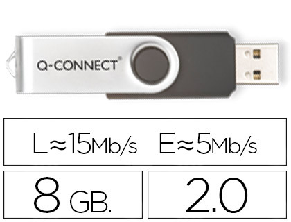 MEMORIA USB Q-CONNECT FLASH 8 GB 2.0
