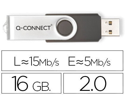 MEMORIA USB Q-CONNECT FLASH 16 GB 2.0