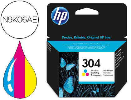 INK-JET HP N.304 DESKJET 3000 / 3720 / 3730 TRICOLOR 100 PAGINAS