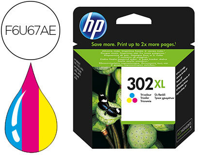 INK-JET HP 302XL ENVY 4524 / 4527 / 4528 / 4521 TRICOLOR 330 PAG